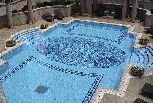 Gạch ốp lát thiết kế bể bơi