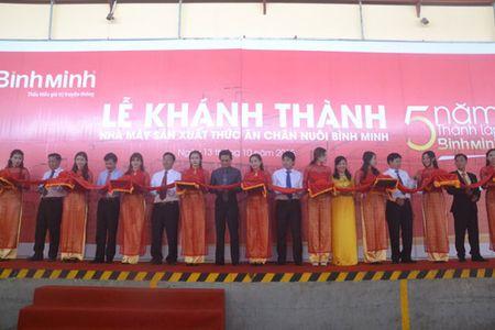 Khanh thanh nha may san xuat thuc an chan nuoi Binh Minh. - Anh 1