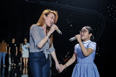 My Tam tich cuc tap luyen cung The Voice Kids - Anh 2