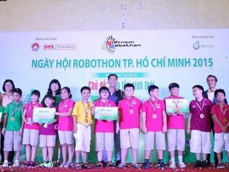 Truong tieu hoc Le Ngoc Han 'dai thang' tai Ngay hoi Robothon - Anh 1