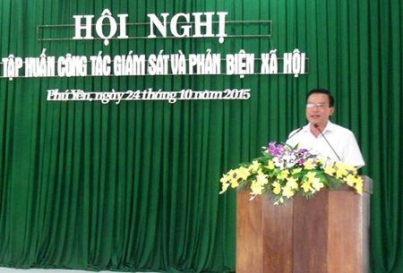 UBMTTQVN tinh Phu Yen: Tap huan cong tac giam sat va phan bien xa hoi - Anh 1