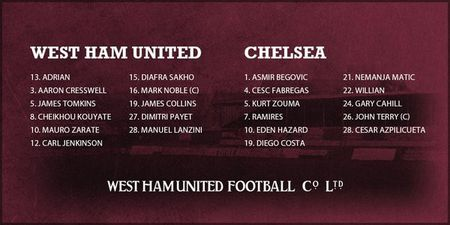 West Ham 1-0 Chelsea (HT): Matic nhan the do - Anh 15