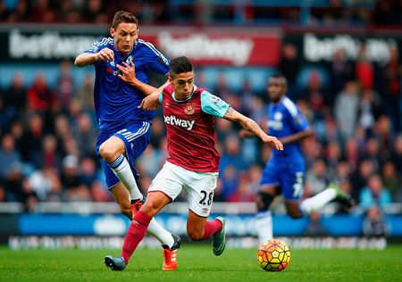 West Ham 1-0 Chelsea (HT): Matic nhan the do - Anh 2