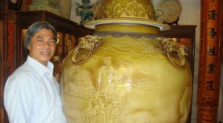 Nghe nhan uu tu To Thanh Son: Vu tru thu vao mot chen con - Anh 1