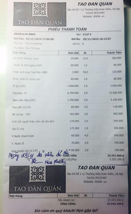 """Khach hang """"phat sot"""" vi bua an co """"dua chuot che VIP"""" het gan 26 trieu dong - Anh 3"""