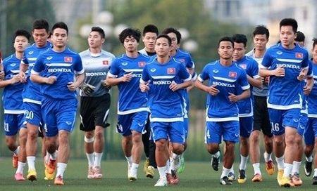 Truoc VCK chau A, DT U23 thi dau 3 tran - Anh 1