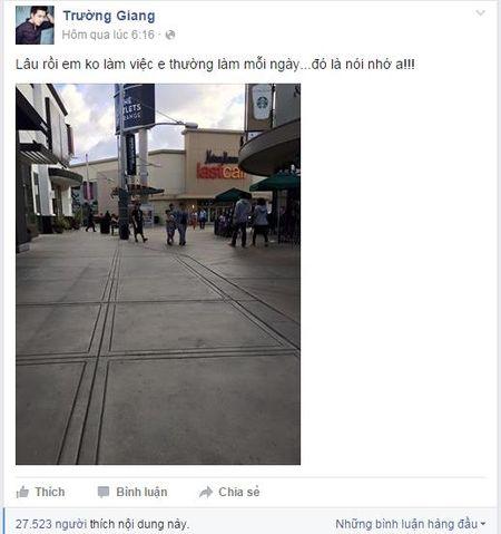 Truong Giang lai gay chu y voi status trach moc Nha Phuong? - Anh 3