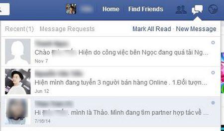 Chan tin nhan rac tren Facebook - Anh 1