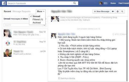 Chan tin nhan rac tren Facebook - Anh 2
