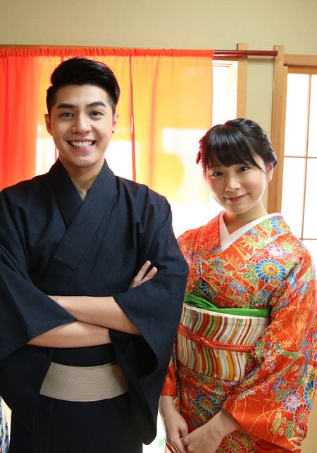 Co gai Nhat giup Noo Phuoc Thinh mac ao kimono - Anh 5