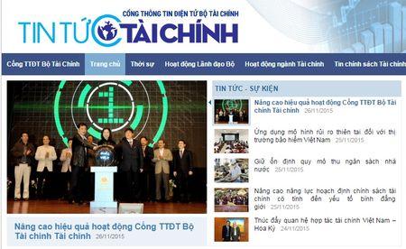Ra mat giao dien moi Cong thong tin dien tu Bo Tai chinh - Anh 2