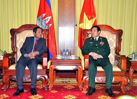 Bo truong Phung Quang Thanh tiep Doan Bo Noi vu Cam-pu-chia - Anh 1