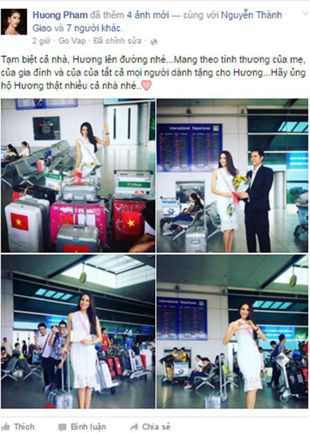 Sao Viet chuc Pham Huong thi tot o Miss Universe 2015 - Anh 2