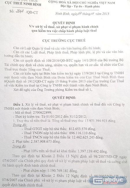 "Cuc Thue Ninh Binh ""uu ai"" cho doanh nghiep, Nha nuoc mat ca chuc ty dong thue? - Anh 2"
