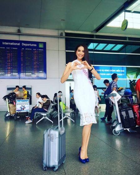 Hoa hau Pham Huong len duong du Hoa hau Hoan vu The gioi 2015 - Anh 1