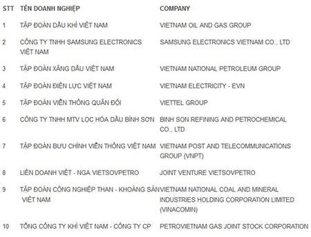 Top 500 DN lon nhat Viet Nam nam 2015 - Anh 1