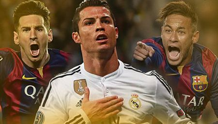 Dua 'Bong vang', Ronaldo kho dau lai Messi, Neymar - Anh 1