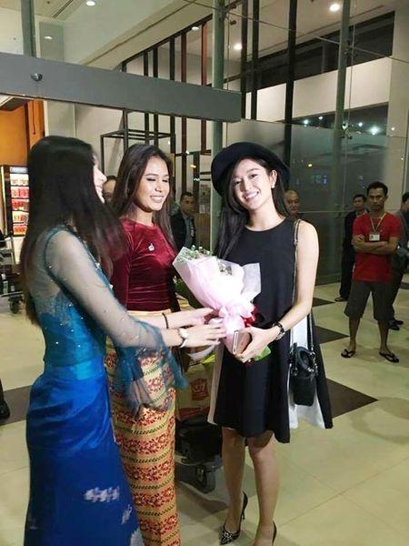 Huyen My bi fan 'vay kin' o san bay Myanmar - Anh 10