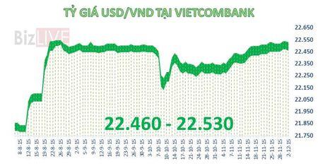 "Ty gia USD/VND ha nhiet sau khi ""lam le"" cham tran - Anh 1"