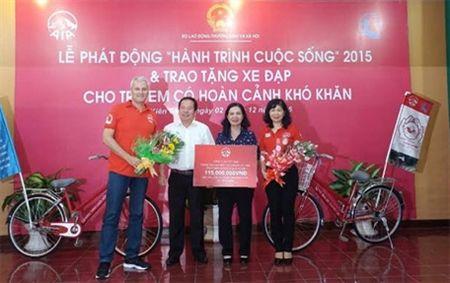 Trao tang 1.800 xe dap cho tre em co hoan canh kho khan - Anh 2
