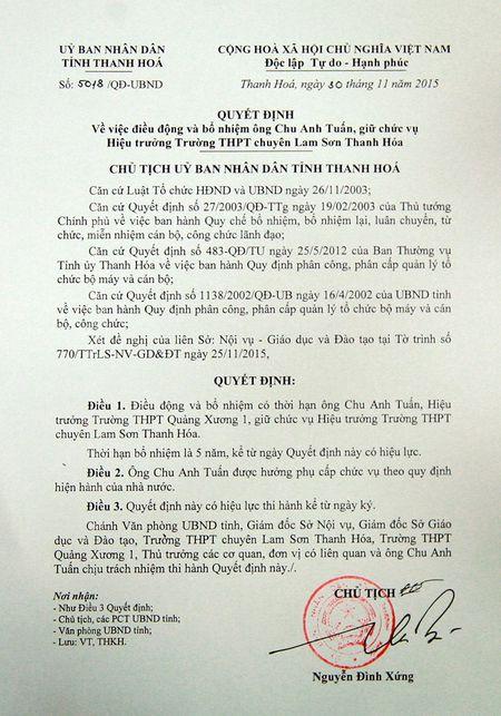 Truong THPT chuyen Lam Son co hieu truong moi - Anh 2