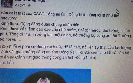 GD Cong an Dong Nai noi gi viec bi 'beu' tren facebook? - Anh 1