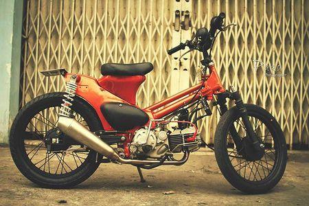 """Sieu cub Honda"" do bobber cuc chat cua biker Viet - Anh 1"