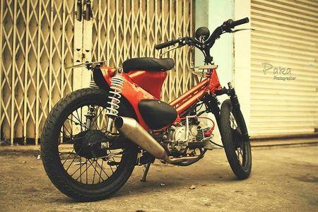 """Sieu cub Honda"" do bobber cuc chat cua biker Viet - Anh 2"