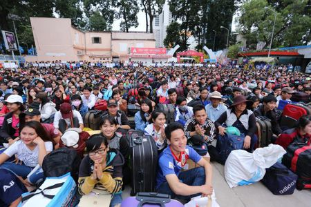 Hon 5.700 sinh vien, nguoi lao dong ron ra ve que don Tet - Anh 3