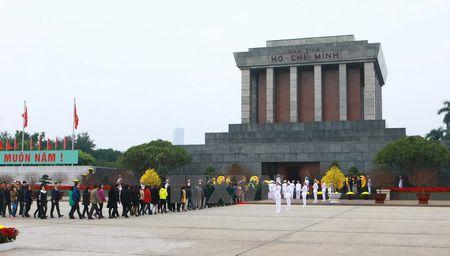 Lanh dao Dang, Nha nuoc vao Lang vieng Chu tich Ho Chi Minh - Anh 9