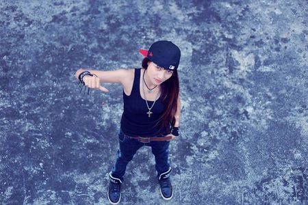 Nu rapper 9X xinh dep gay sot cong dong mang gan xa - Anh 9