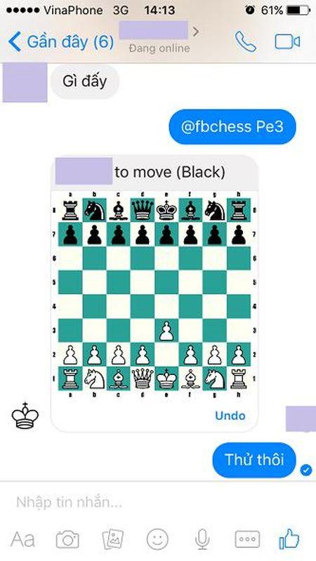 Thu choi co vua ngay trong Facebook Messenger! - Anh 1