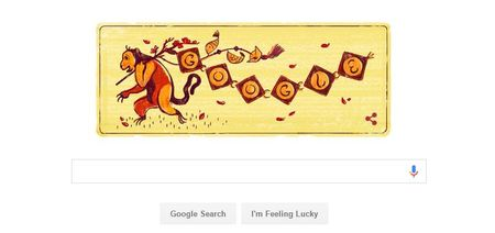 Google Doodle tung anh khi don nam moi Binh Than - Anh 1