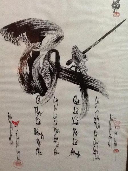 Di nhan tam phap Bui Quang Vinh tang tho chuc mung nam moi - Anh 4