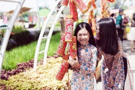 Dinh Y Nhung cung con tron dao dien Luu Huynh di choi Tet - Anh 5