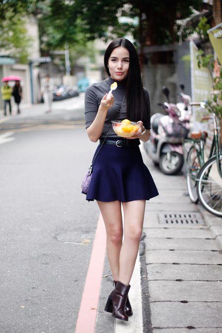 Bi quyet ket hop ao len cao co va chan vay mini khong nham chan - Anh 3