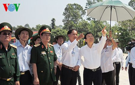 Chu tich nuoc tham Khu di tich Trung uong Cuc mien Nam - Anh 1