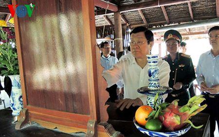 Chu tich nuoc tham Khu di tich Trung uong Cuc mien Nam - Anh 3