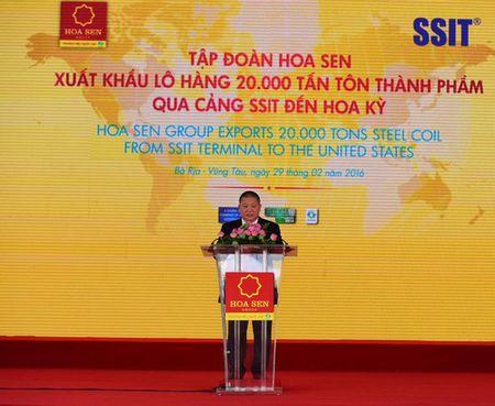 Tap doan Hoa Sen xuat khau 20 nghin tan ton thanh pham sang Hoa Ky - Anh 5