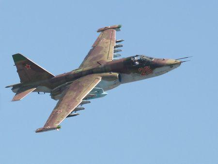 Chien dau co Su-25 cua Nga roi, phi cong tu nan - Anh 1