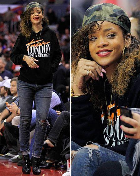 Rihanna tha rong vong mot o NBA - Anh 7