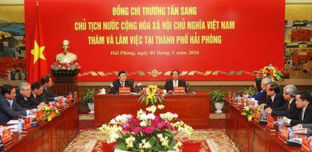 Chu tich nuoc Truong Tan Sang lam viec tai Hai Phong - Anh 2
