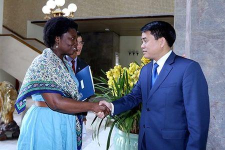 Chu tich UBND TP Ha Noi Nguyen Duc Chung tiep Giam doc Ngan hang The gioi tai Viet Nam - Anh 1