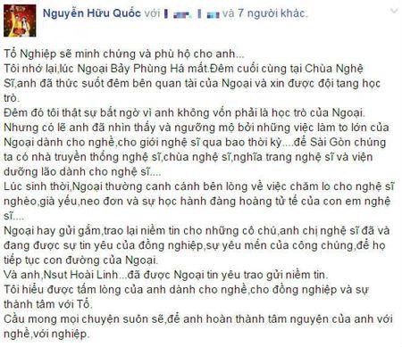 Nghe si Viet len tieng bao ve den tho To cua NSUT Hoai Linh - Anh 4