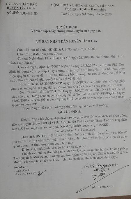 Tinh Gia, Thanh Hoa: Chua GPMB da ban dau gia, cap quyen su dung dat - Anh 1