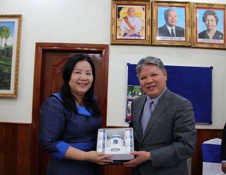 BT Ha Hung Cuong lam viec voi VP Tong Cong to ben canh TATC Campuchia - Anh 3