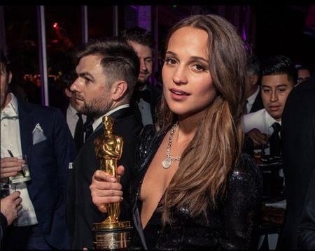 Dan sao long lay du tiec hau Oscar 2016 - Anh 1