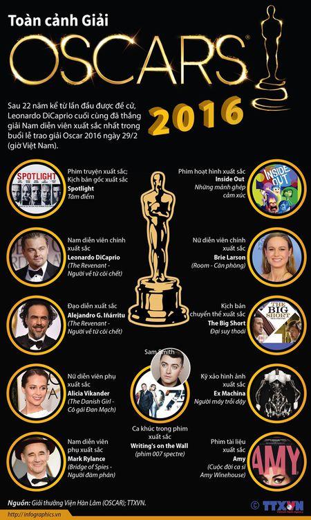 Toan canh le trao giai thuong dien anh Oscar 2016 - Anh 1