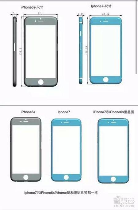 iPhone 7 nho hon va day hon iPhone 6s - Anh 1