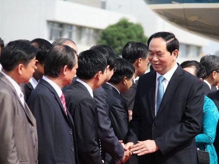 Chu tich nuoc den Vieng Chan, bat dau tham cap Nha nuoc Lao - Anh 2